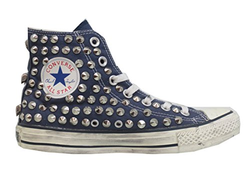 Converse All Star Studded Blue Navy Studs (producto Hecho A Mano)
