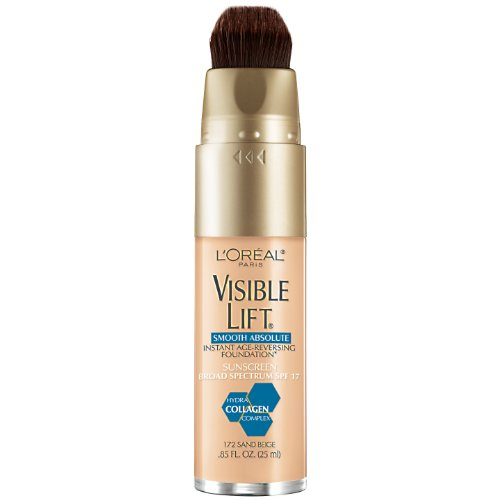 L'Oreal Paris Visible Lift Smooth Makeup, Absolute Sand Beige, 0.85 Fluid Ounce