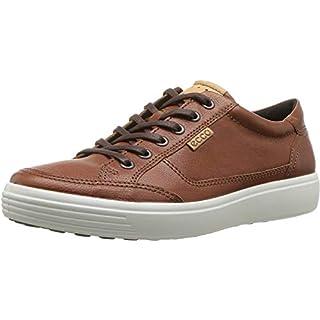 ECCO Men's Soft 7 Long Lace Sneaker, Cognac, 40 M EU (6-6.5 US)