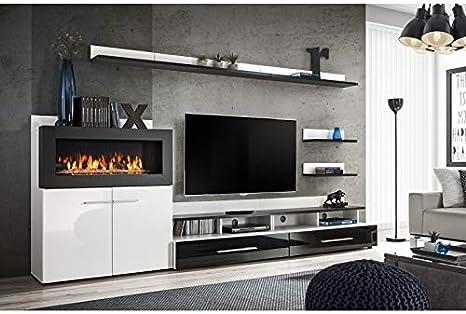 ASM - Conjunto de Pared para televisor (8 Elementos), Color Blanco ...