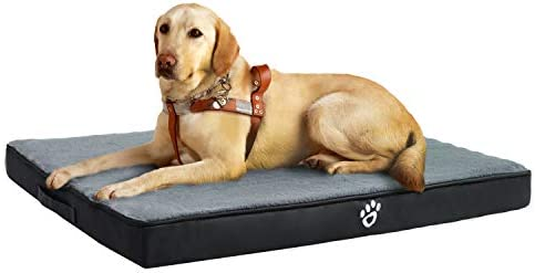 Utotol Orthopedic Dog Bed for Medium Large Dogs, Memory Foam Pet Bed Mattress with Removable Washable Cover, 2-Layer Pet Mat with Waterproof Lining Dog beds