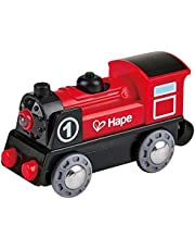 Hape Wooden Railway Battery Powered Engine No. 1 Kid's Train Set