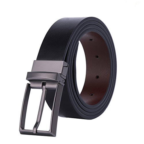 Whippy Genuine Leather Men's Dress Reversible Belt 1.33