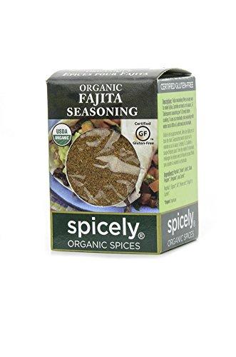 - Spicely Organic Seasoning Fajita 0.40 Ounce ecoBox Certified Gluten-Free