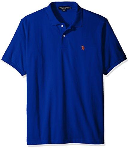 U.S. Polo Assn. Men's Classic Polo Shirt, Cobalt Blue, L (Tank Long Rib)