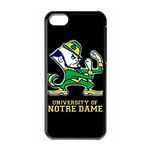 NCAA INDEPENDENTS 17 Print Black Case With Hard Shell Cover for Apple iPhone 5s for you-Notre Dame Fighting Irish Logo