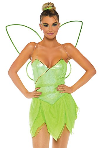 Leg Avenue Womens Pretty Pixie Fairy Costume, Green Medium -