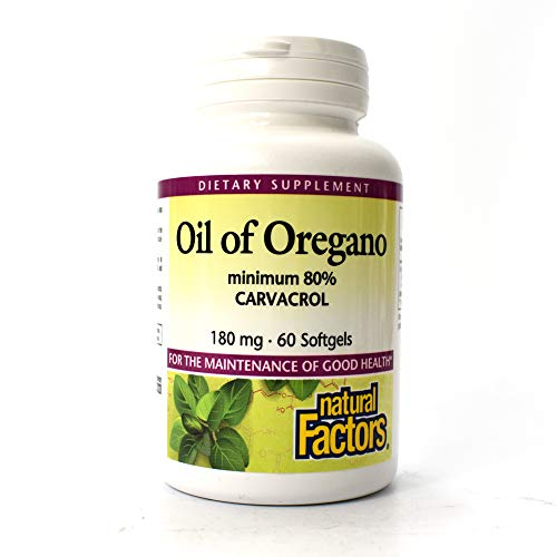 - Natural Factors - Oil of Oregano 180mg, With Extra Virgin Olive Oil, 60 Count