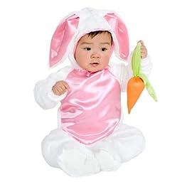 Charades Costumes 34195 Plush Bunny Child Costume Size X-Small- Girls 2-4