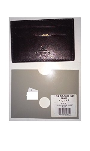 Mignon Leather Business Card Holder Black 4 1/2