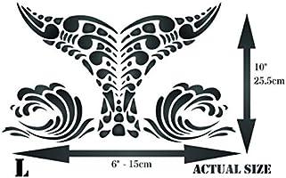 Plantilla de cola de ballena, reutilizable, diseño tribal étnico ...