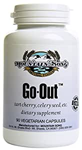 Go Out Joint Formula and Uric Acid Support with Tart Cherry Concentrate, Black Cherry Extract 20:1, Celery Seed Extract and Turmeric Root. Helps you Get Out and About. It Works!