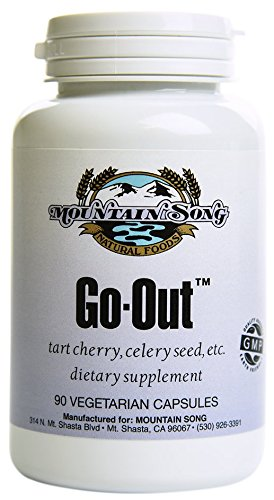 Go Out Relief Joint Formula and Uric Acid Support with Tart Cherry Concentrate, Black Cherry Extract 20 1, Celery Seed Extract and Turmeric Root. Helps You Get Out and About. It Works