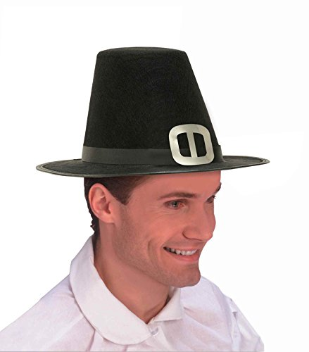 Forum Novelties Men's Novelty Adult Pilgrim Man Hat, Black, One Size