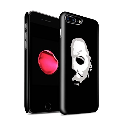 STUFF4 Matte Hard Back Snap-On Phone Case for Apple iPhone 8 Plus/Michael Myers Inspired Art Design/Horror Movie Art -