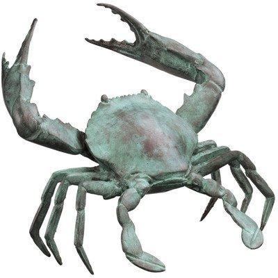 Design Toscano Crab Statue Size: - Bronze Crab Sculpture