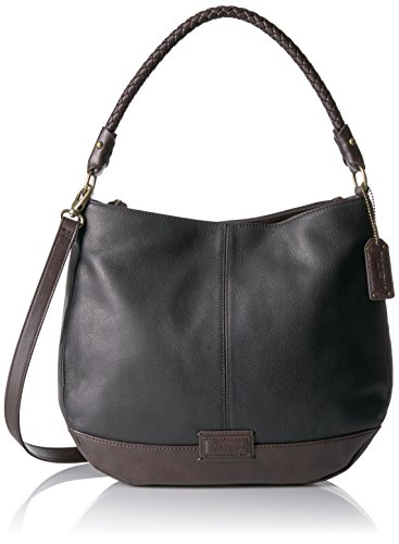 Tignanello Braided Beauty Hobo - Black/Dark Brown - One Size