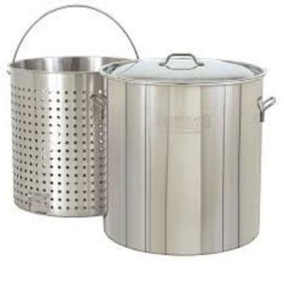 Stainless Steel Stockpot with Basket