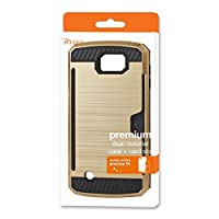 Reiko Slim Armor Hybrid Case for LG Spree/K120 - Retail Packaging - Gold