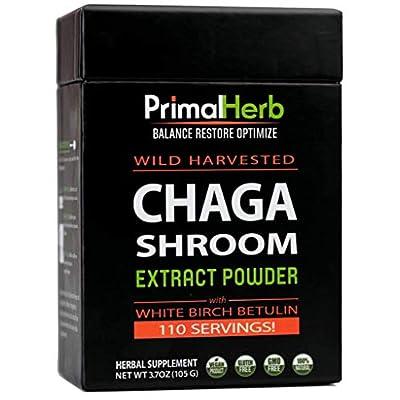 Wild Chaga Mushroom Extract Powder with White Birch Betulin | By Primal Herb | Antioxidant Immune Mushroom Tea | 110 Servings - Includes Bamboo Spoon - 4038786 , B00N465D2M , 454_B00N465D2M , 41.95 , Wild-Chaga-Mushroom-Extract-Powder-with-White-Birch-Betulin-By-Primal-Herb-Antioxidant-Immune-Mushroom-Tea-110-Servings-Includes-Bamboo-Spoon-454_B00N465D2M , usexpress.vn , Wild Chaga Mushroom Extract