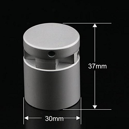 (Pack of 4 Units) Large Aluminum Alloy Edge Grips Support for Spacing Signage(Φ30x37mm) by Yakri (Image #2)