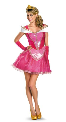 (Disguise Disney Deluxe Sassy Aurora Costume, Pink/White,)