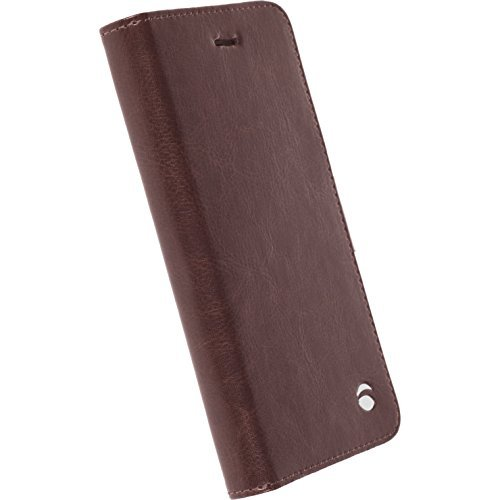 Genuine Krusell - Apple iPhone 6 / 6S Case - Ekero Folio Wallet - Coffee - HANDCRAFTED - Slim Design - Deluxe Packaging - The Authentic Leading European Brand (International LIFE TIME Guarantee)