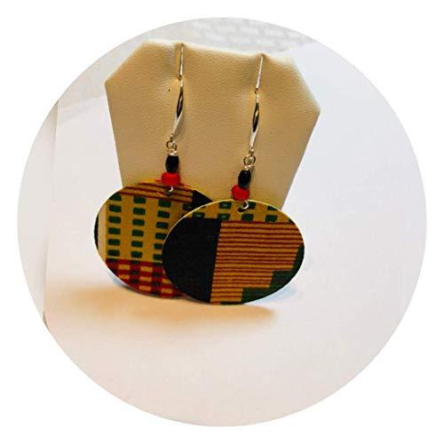 Kente Design - Kente Cloth Fabric Earrings African Soul Earrings