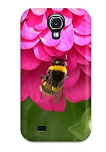 Anti-scratch And Shatterproof Bee On Flower Cute Small Insect Pink Animal Other Phone Case For Galaxy S4/ High Quality Tpu Case