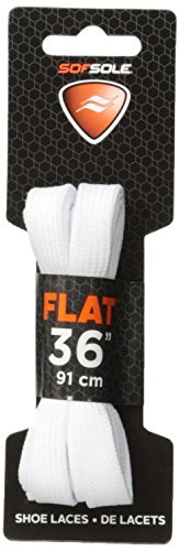 Sof Sole Athletic Flat Shoe Lace (White, 45-Inch)