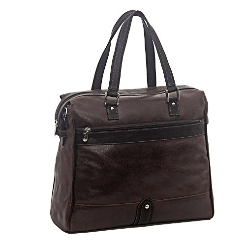 Piel Leather Vintage Travel Tote, Vintage Brown, One Size by Piel Leather