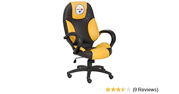 Amazon.com: NFL Pittsburgh Steelers Leather Office Chair: Sports U0026 Outdoors