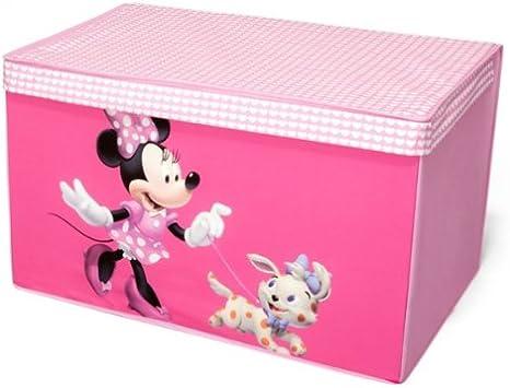 Caja de lona diseño de Minnie Mouse para almacenaje de juguetes ...