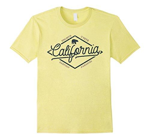 California Bear outdoors T-Shirt Large Lemon (California Yellow T-shirt)