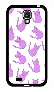 Cats In Purple TPU RUBBER SILICONE Phone Case Back Cover Samsung Galaxy S4 I9500