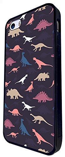 715 - Cool Fun Multi Dinosaurs Design iphone SE - 2016 Coque Fashion Trend Case Coque Protection Cover plastique et métal - Noir