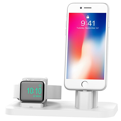 BEACOO Charging Station NightStand White