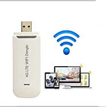 Portable 4G Mobile Hotspot 100Mbps 4G LTE Mobile Wifi Router 3G USB Wifi dongle Modem with SIM Card slot Support 3/4G netowork For Outdoor And Indoor On The Bus Or In Car (SIM card not included)