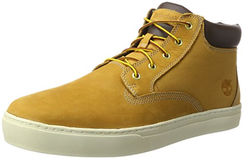 Timberland Men's Dauset Leather and Fabric Chukka, Brown (Wheat), 14.5 UK