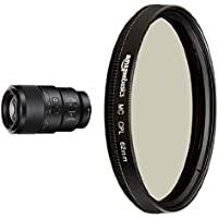 Sony SEL90M28G FE 90mm f/2.8-22 Macro G OSS Standard-Prime Lens for Mirrorless Cameras with  AmazonBasics Circular Polarizer Lens - 62 mm