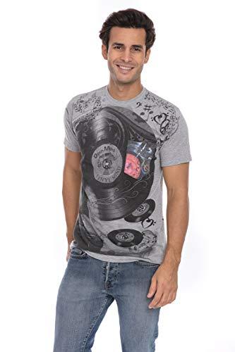 Vinyl Record Time DJ Spinning Music Notes Peace Soft T-Shirt Tee Printed Pocket Unisex Mens - Black (Best Of Omd Vinyl)