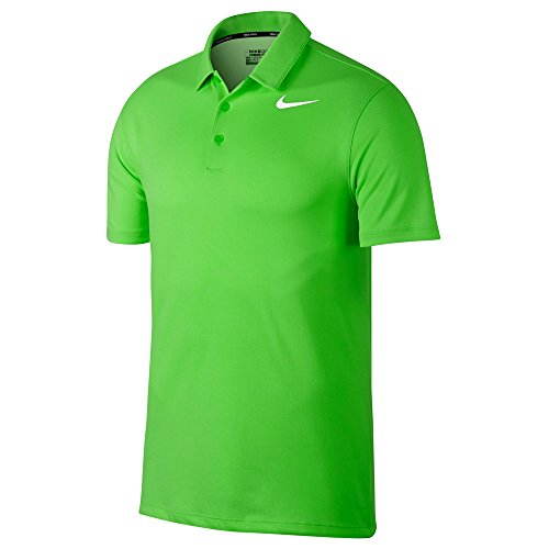 (Nike Dry Fit Textured Golf Polo 2017 Green Strike/White X-Large)