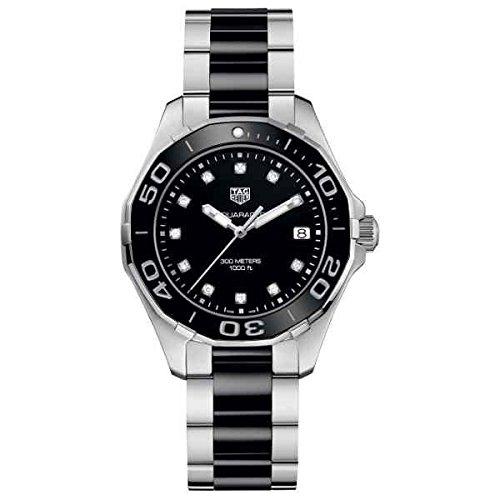 Tag Heuer Aquaracer Black Dial Diamond Ladies Watch WAY131C.BA0913 (Tag Heuer Womens Diamond Watches)
