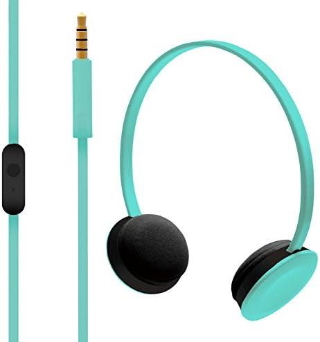 Hoomia U2NY-TIFFANY On-Ear Stereo Headphone with Microphone, Green