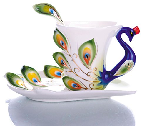 emoyi-porcelain-tea-cup-and-saucer-coffee-cup-mug-peacock-theme-creative-present-green