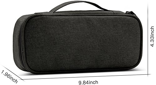 BAONA Carrying Bag for AC Adapter, Travel Organizer for Laptop Charger, Pouch Cover Case for Power Cord and Other Accessories -Black by baona (Image #2)