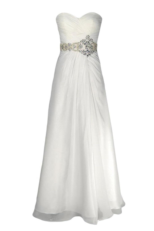 Sunvary Strapless Draped Ruffle Side Zipper Rhinestone Bridesmaid Prom Gowns-12-Daffodil