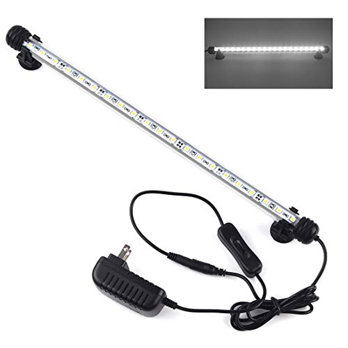 "Smiful LED Aquarium Light, Fish Tank Light Submersible Underwater Crystal Glass LEDs Lights (15""-White) from Smiful"