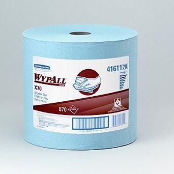 Kimberly-Clark 41611 WYPALL X70 - Limpiaparabrisas, rollo grande, color azul, 31
