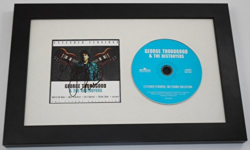 George Thorogood Extended Versions Signed Autographed Music Cd Cover Framed Display Loa